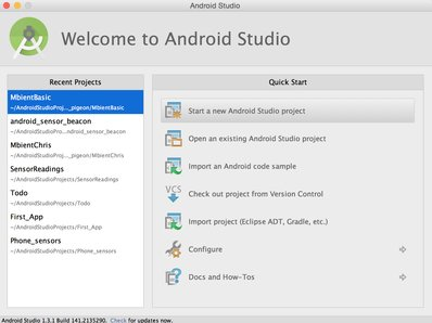 start new Android Studio Project